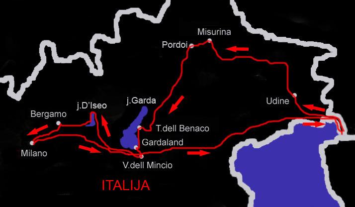 bergamo italija mapa mojputopis.  Italija   Gardaland, Milano, mapa bergamo italija mapa