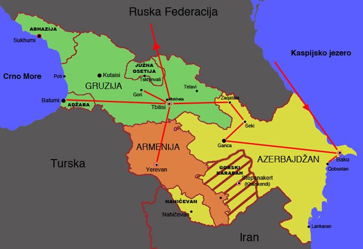Mojputopis Com Zakavkazje Mapa